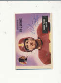 1955 bowman card vintage signed 17 Volney Peters Redskins