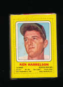 1969 Ken Harrelson Boston Red Sox Transogram em
