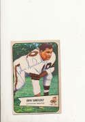 1954 bowman card vintage signed 28 john sandusky browns
