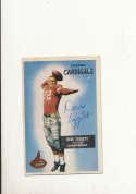 1955 bowman vintage signed 31 Dave leggett Cardinals