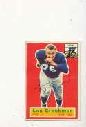 1956 Topps card vintage signed 8 Lou Creekmur Lions HOF