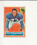 1956 Topps card vintage signed 24 Joe Campanella colts rare!