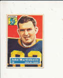 1956 Topps card vintage signed 91 John Martinkovic Packers