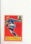 1956 Topps card vintage signed 56 Bill Stits Lions em