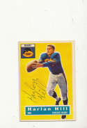 1956 Topps card vintage signed 59 Harlan Hill Bears