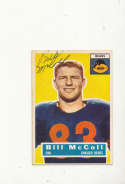1956 Topps card vintage signed 83 Bill McColl Bears