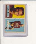 1957 Topps card vintage signed  91 Lindon Crow Cardinals em