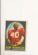 1957 Topps card vintage signed 132 Don Bosseler Redskins