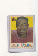 1959 Topps card vintage signed 33 R.C. Owens 49ers