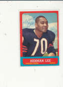 1963 Topps card vintage signed 67 Herman Lee Bears