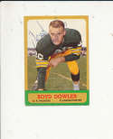 1963 Topps card vintage signed 88 Boyd Dowler Packers