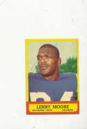 1963 Topps card vintage signed 2 Lenny Moore Colts