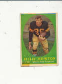 1958 Topps card vintage signed 6 Billie Howton Packers tape