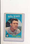 1959 Topps card vintage 299 Billy Klaus Baltimore Orioles signed