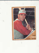 1962 Topps card vintage signed 407 Jerry Lynch Reds