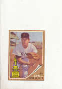 1962 Topps card vintage signed 35 Don Schwall Red Sox