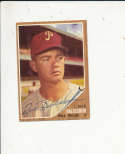 1962 Topps card vintage signed 46 Jack Baldschun Phillies