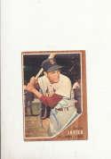 1962 Topps card vintage signed 118 Julian Javier Cardinals