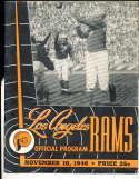 1946 11/10 Los angeles rams vs chicago bears football Program