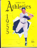 1955 Kansas City Athletics yellow edition rare em
