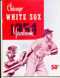 1954 Chicago White Sox Baseball Yearbook ex (corner crease)