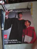 1990 Julius Erving Stay in School Coke poster