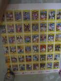 1981 Kelloggs uncut sheet of baseball cards 1-48 complete  set d