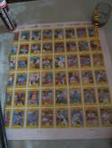 1981 Kelloggs uncut sheet of baseball cards 42 different  set f