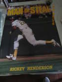 1990 Rickey Henderson Man of Steal Oakland A's Poster Costacos