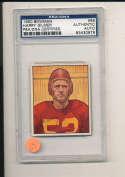 1950 bowman card Harry Gilmer #66 Redskins  Signed  psa/dna