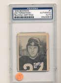 1948 bowman card Joe Tereshinski Redskins #1  Signed  psa/dna