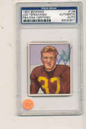 1950 bowman card Joe Tereshinski Redskins #139  Signed  psa/dna