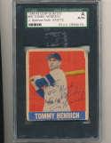 1948 Leaf card #55 Tommy Henrich Yankees signed jsa