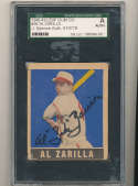 1948 Leaf card #36 Al Zarilla browns short print signed jsa
