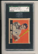 1948 Leaf  card #149 Henry Majeski Athletics short print signed jsa