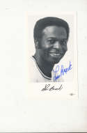 1970's Lou Brock st. Louis Cardinals Signed team issued card 5x3