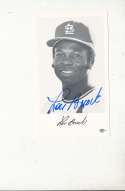 1970's Lou Brock st. Louis Cardinals Signed team issued card #2