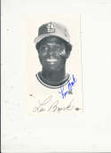 1970's Lou Brock st. Louis Cardinals Signed team issued card #3