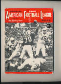 1965 AFL Football Guide The Sporting News em complete