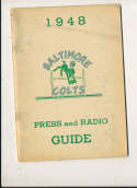 1948 Baltimore Colts AAFC Press Media Guide rubbing wear