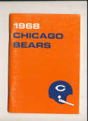 1968 Chicago Bears Press Media Guide em