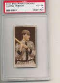 1912 t207 brown card psa 4 George McBride Senators