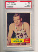1957 topps Jack George Warriors #67 psa 6 (gum st on front can be removed)