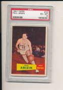 1957 topps Paul arizin Warriors HOF #10  psa 6