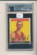 1933 sports Kings Ed Wachter GaI 8 nrmt #5 new york celtics