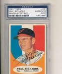 1961 topps card Signed #131 Paul Richards Baltimore Orioles psa/dna