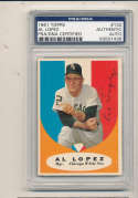 1961 topps card Signed #132 Al Lopez White Sox psa/dna authentic