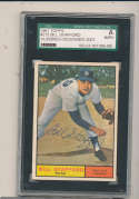 1961 topps Signed #213 Bill Stafford Yankees SGC authentic