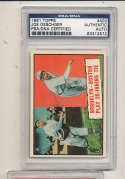 1961 topps Signed #403 Joe Oeschger Brooklyn psa/dna authentic