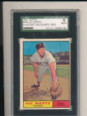 1961 topps Signed #340 Vic Wertz Red Sox SGC authentic